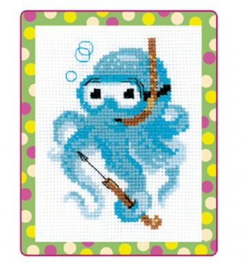 Riolis Cross Stitch Kit.OCTOPUS.